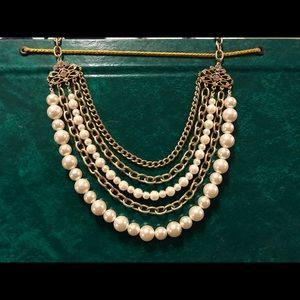 Jewelry - Pearl and gold multi strand necklace